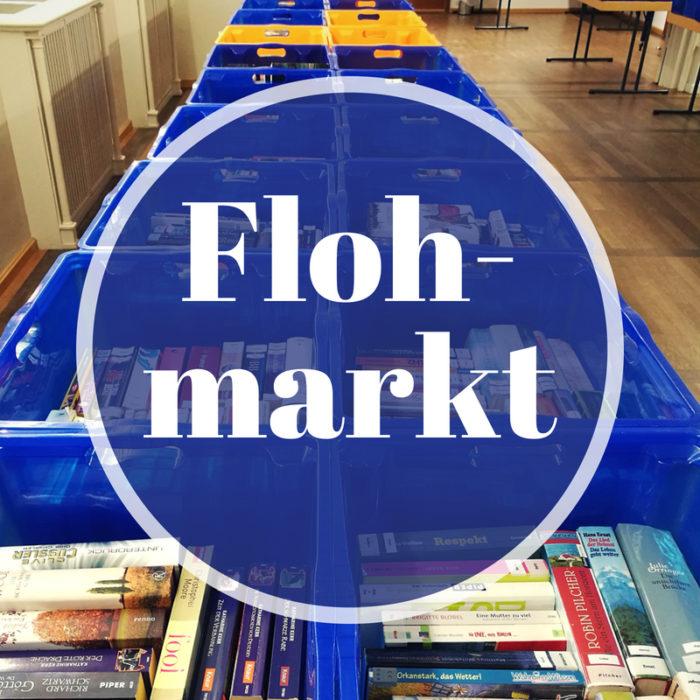 Bücherkisten mit Flohmarkt-Button