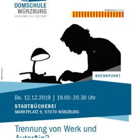 Diskussion: Trennung von Werk und Autor*in?
