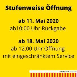 Stufenweise Öffnung der Stadtbücherei ab 11. Mai 2020