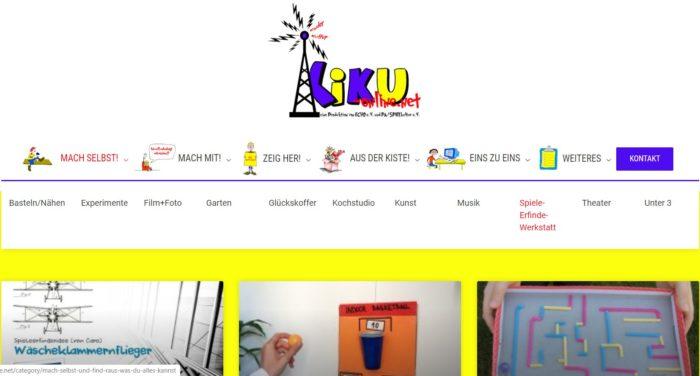 Screenshot Internetseite