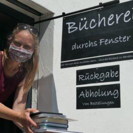 """""""Bücherei durchs Fenster"""" in der Stadtteilbücherei Hubland"""