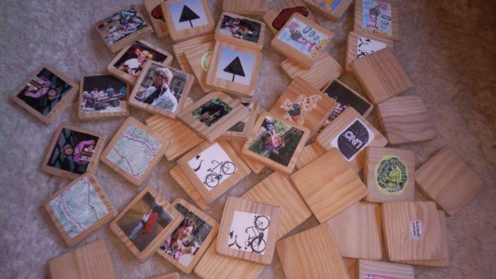 Memorykarten auf einem Haufen