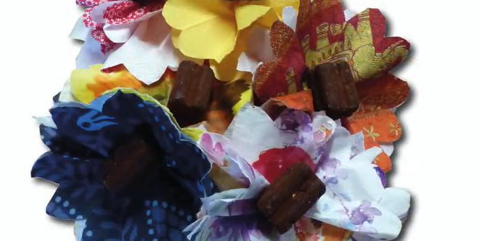 Blumen-Strauß aus Servietten – Basteln mit Kindern