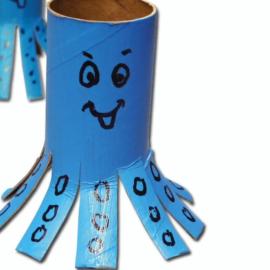 Klopapier-Krake – Basteln mit Kindern
