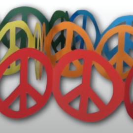 Peace-Girlande – Basteln mit Kindern